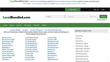 LocalBundled.com - National to local business related information listings.